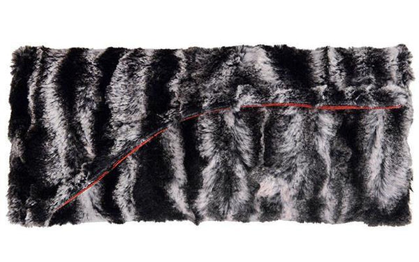Envelope Clutch - Luxury Faux Fur Agate in Black Agate in Black / Clutch Only Handbag Pandemonium Millinery