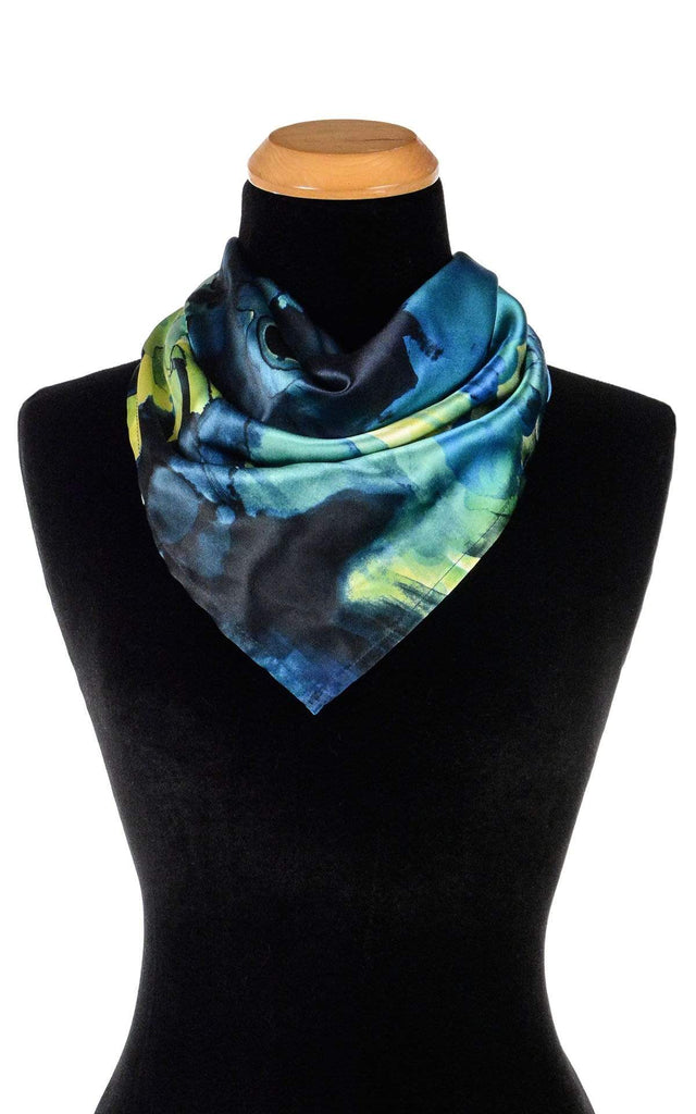 Pandemonium Millinery Euro Scarf - Fiesta Silk Collection Fiesta in Calypso / 21 Inch Square Apparel