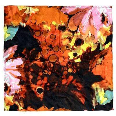 Pandemonium Millinery Euro Scarf - Fiesta Silk Collection Fiesta in Carnival / 44 Inch Square Apparel