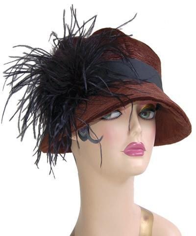 Grace Cloche Style Hat - Cohen in Chocolate Upholstery