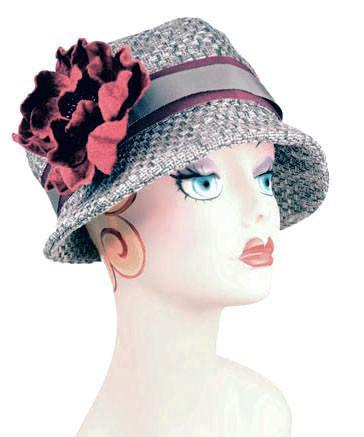 Grace Cloche Style Hat - Frozen Tundra Upholstery (Brooch - SOLD OUT)