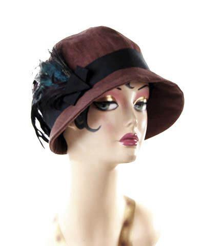 Grace Cloche Style Hat - Linen in Chocolate