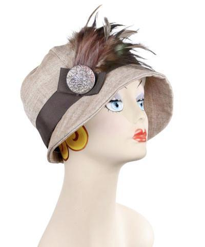 Grace Cloche Style Hat - Linen in Coral