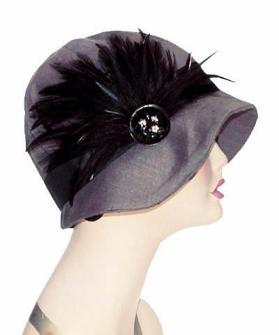 Grace Cloche Style Hat - Linen in Gray