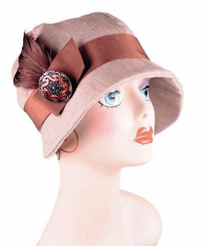 Grace Cloche Style Hat - Linen in Natural