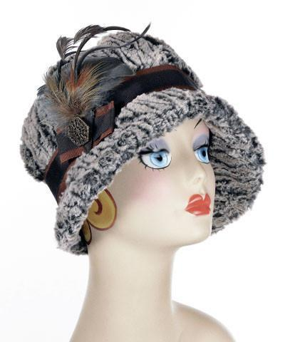 Grace Cloche Style Hat - Luxury Faux Fur in Black Walnut  (ONE MEDIUM LEFT!)