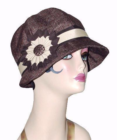Grace Cloche Style Hat - Origin in Java Upholstery