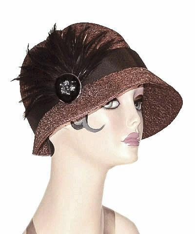 Grace Cloche Style Hat - Tumbleweed in Chocolate