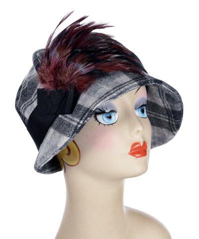 Grace Cloche Style Hat - Wool Plaid in Twilight