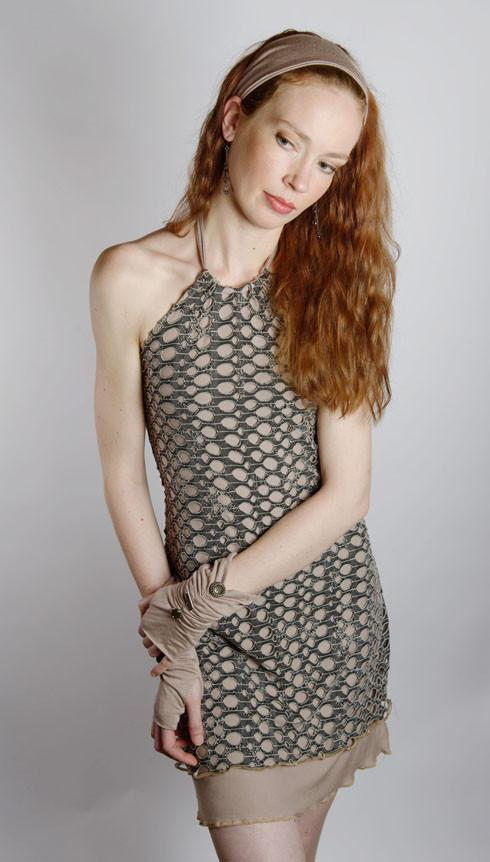 Halter Dress - Lunar Landing with Jersey Knit (Limited Availability)