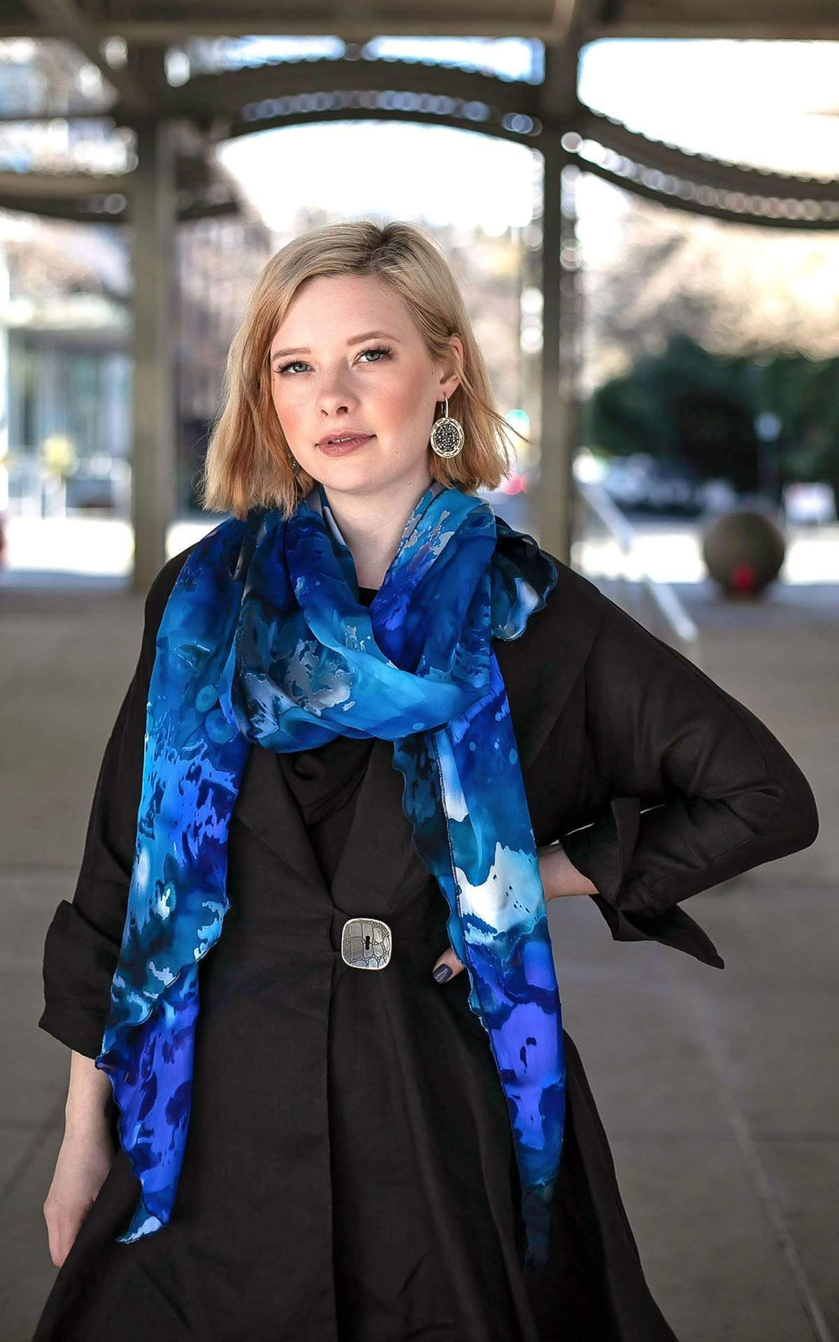 Handkerchief Scarf - Garden Path Collection (Only One in Blue Star Left!)