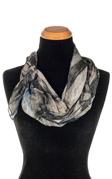 Pandemonium Millinery Handkerchief Scarf - Lovely Lace in Blue Lovely Lace in Blue Scarves