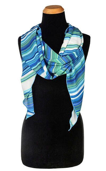 Handkerchief Scarf - Sea Breeze, Solid Sea Breeze Scarves Pandemonium Millinery