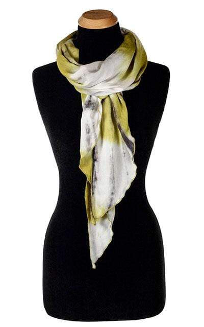 Handkerchief summer Scarf  - Tea Time in Chamomile Cotton Chalet hand made in Seattle, WA