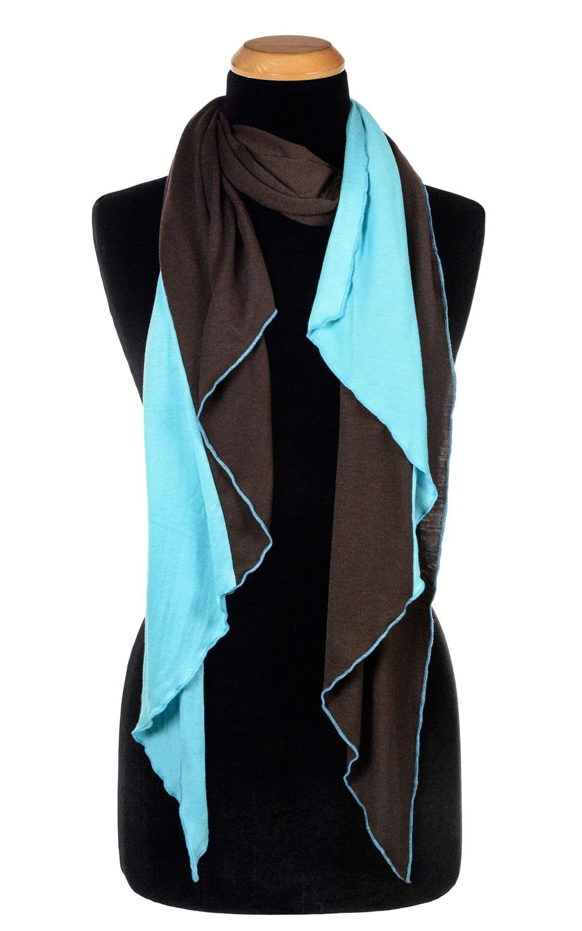 Handkerchief Scarf - Two-Tone, Jersey Knit