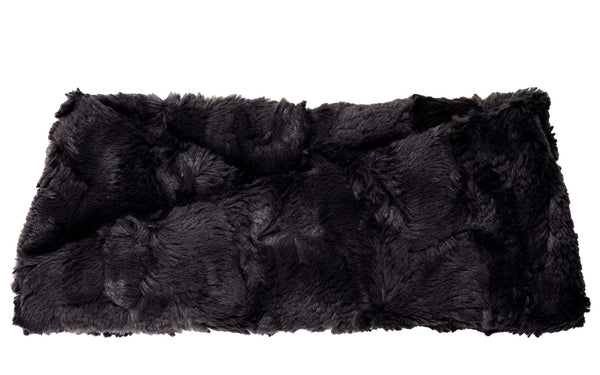 Headband - Cuddly Faux Fur (Stone - SOLD OUT) With Twist / Cuddly Black Headbands Pandemonium Millinery