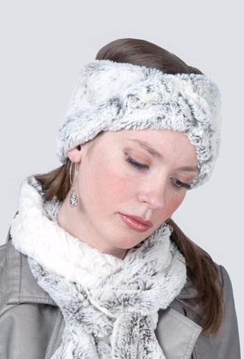 Headband - Luxury Faux Fur in Khaki With Twist Headbands Pandemonium Millinery