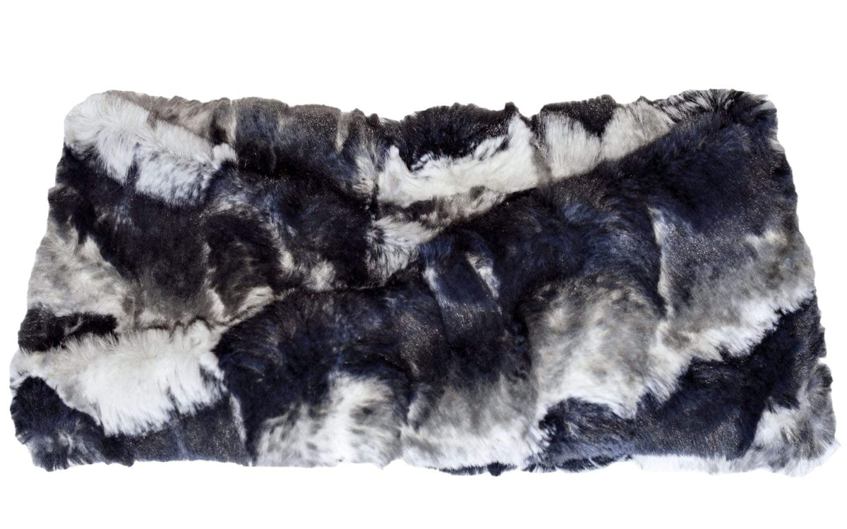 Headband - Luxury Faux Fur in Ocean Mist