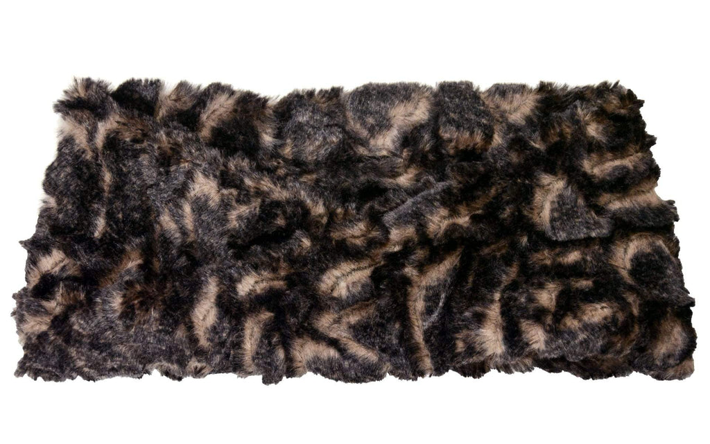 Pandemonium Millinery Headband - Luxury Faux Fur in Vintage Rose With Twist Headbands