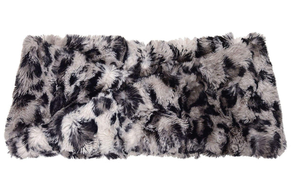 Pandemonium Millinery Headband - Luxury Faux Fur Savannah Cat in Gray With Twist Headbands