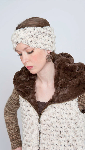 Headband - Rosebud Faux Fur Rosebud Brown / Twist Headbands Pandemonium Millinery