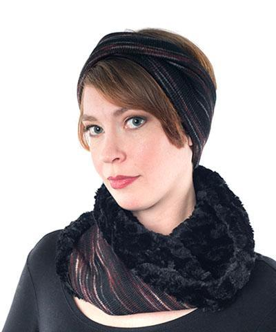 Headband - Sweet Stripes With Twist / Blackberry Cobbler / Headband Only Headbands Pandemonium Millinery