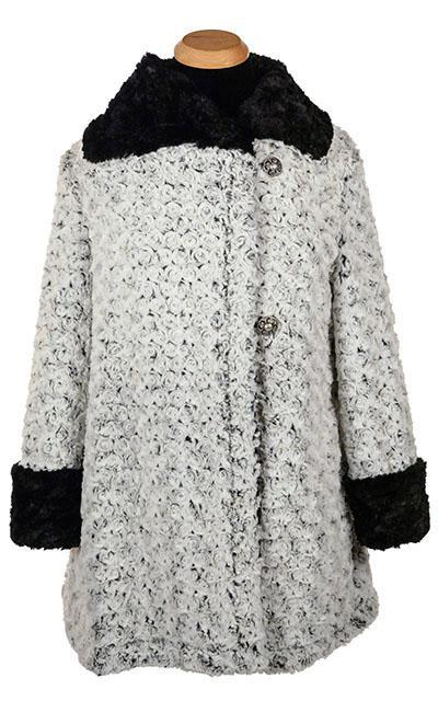 Hepburn Swing Coat - Rosebud Faux Fur with Cuddly Fur (One Small Brown / One Med. Black Left!)