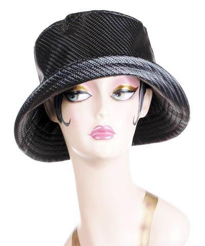 Hollie Rain Hat Style - Wicker Basket in Black