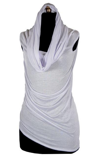 Hooded Cowl Tunic - Jersey Knit, Multi-Style (Limited Availability)