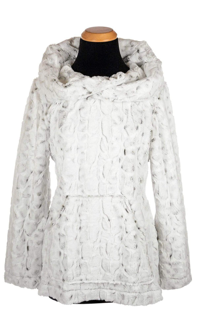 Pandemonium Millinery Hooded Lounger - Luxury Faux Fur in Winters Frost Outerwear