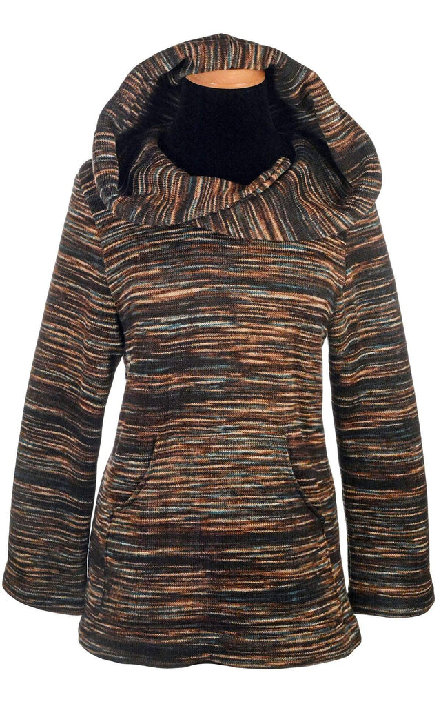 Pandemonium Millinery Hooded Lounger - Sweet Stripes Outerwear