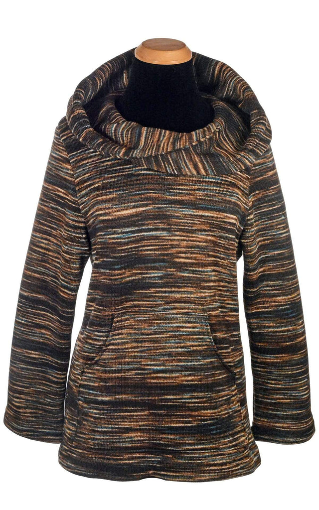 Pandemonium Millinery Hooded Lounger - Sweet Stripes X-Small / English Toffee Outerwear