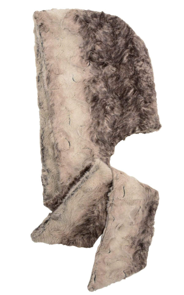 Pandemonium Millinery Hoody Scarf - Luxury Faux Fur in Fawn Fawn - Solid Scarves