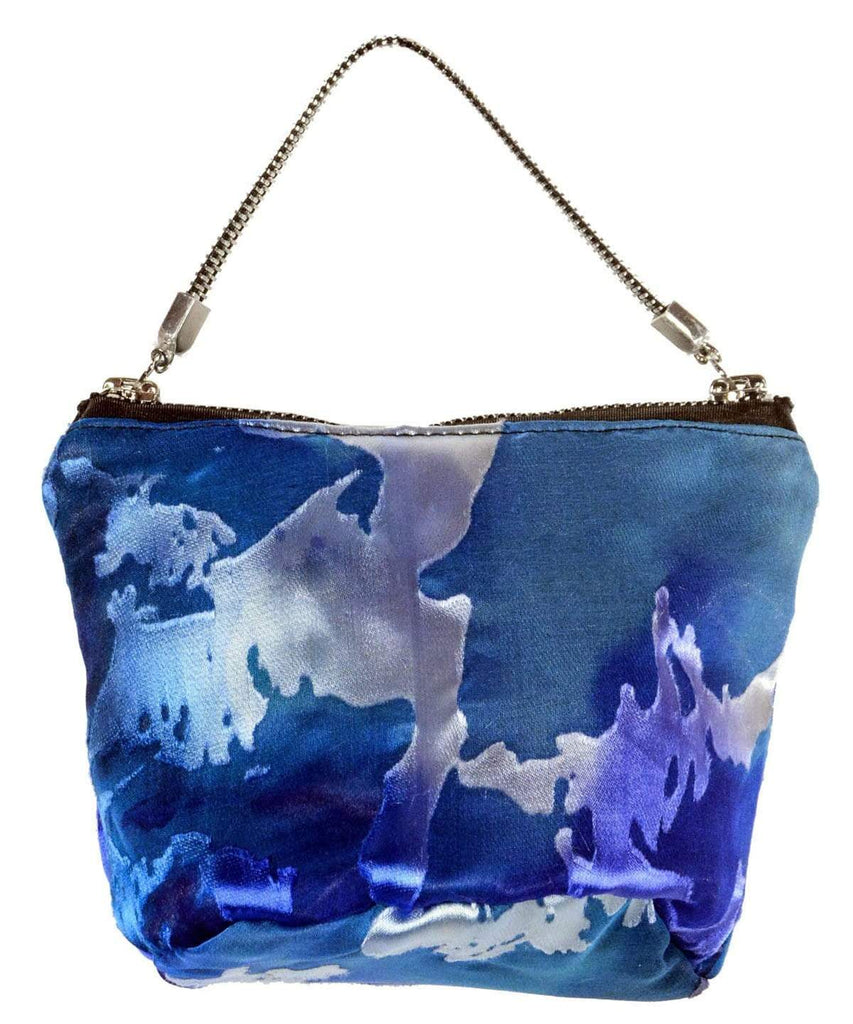 Pandemonium Millinery Ibiza After Six Bag - Garden Path Collection Garden Path in Blue Star Handbag