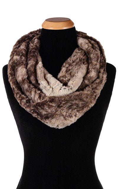 Infinity Scarf - Luxury Faux Fur in Fawn Fawn Scarves Pandemonium Millinery