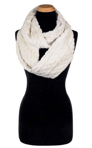 Pandemonium Millinery Infinity Scarf - Luxury Faux Fur in Marshmallow Twist (LIMITED AVAILABILITY) Marshmallow Twist Scarves