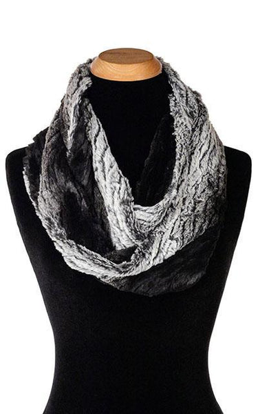 Infinity Scarf - Luxury Faux Fur in Smouldering Sequoia Smouldering Sequoia Scarves Pandemonium Millinery