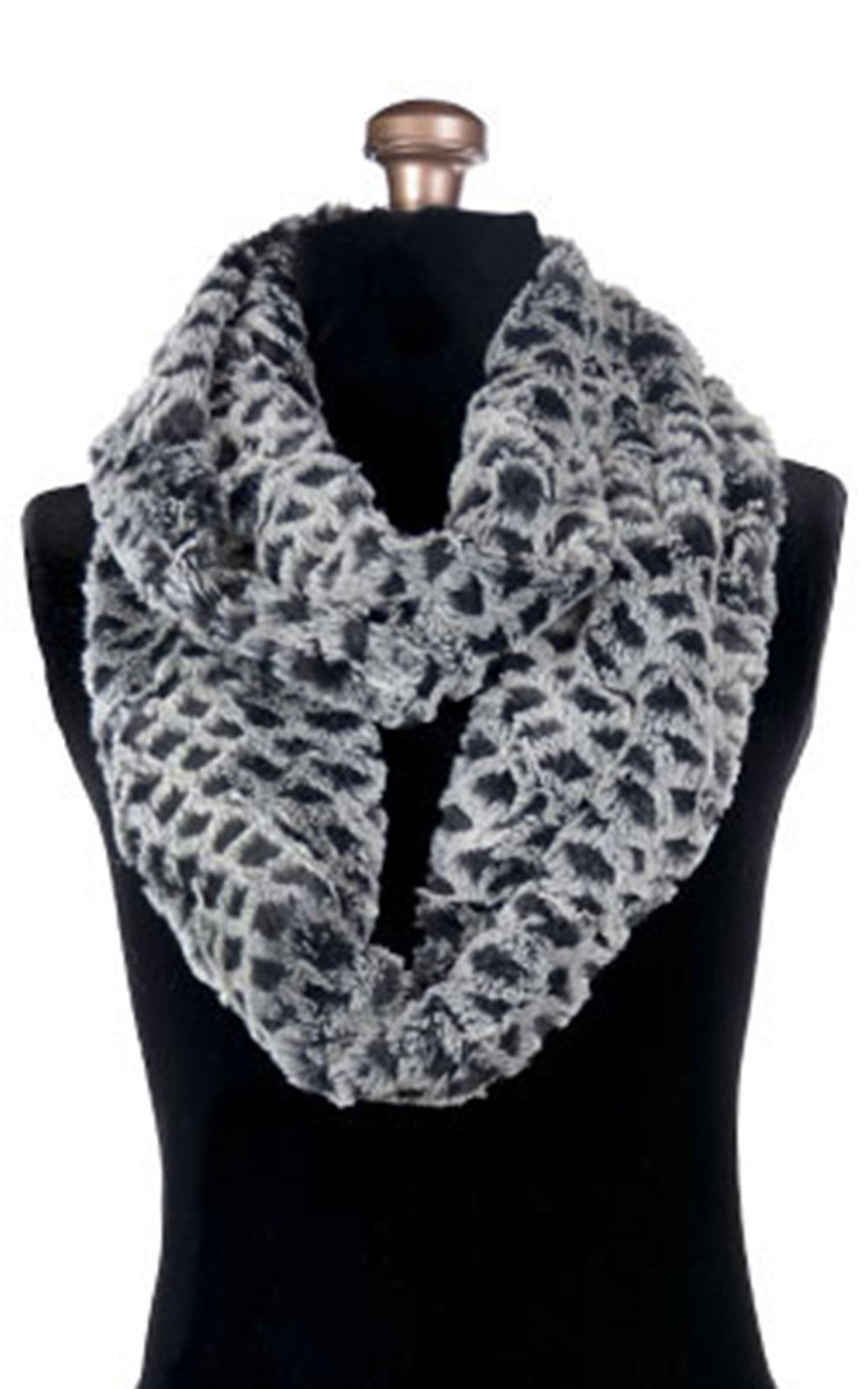 Infinity Scarf - Luxury Faux Fur in Snow Owl