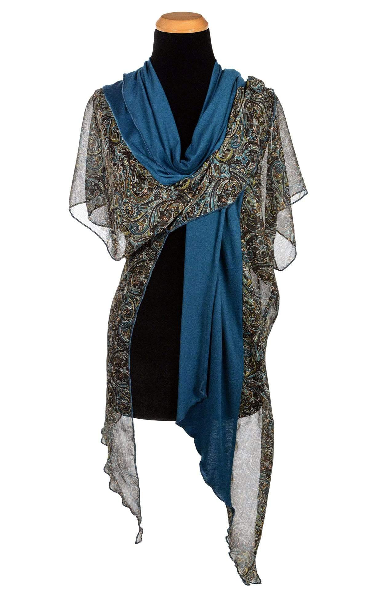 Kaftan - Peacock Paisley with Blue Moon Jersey Knit