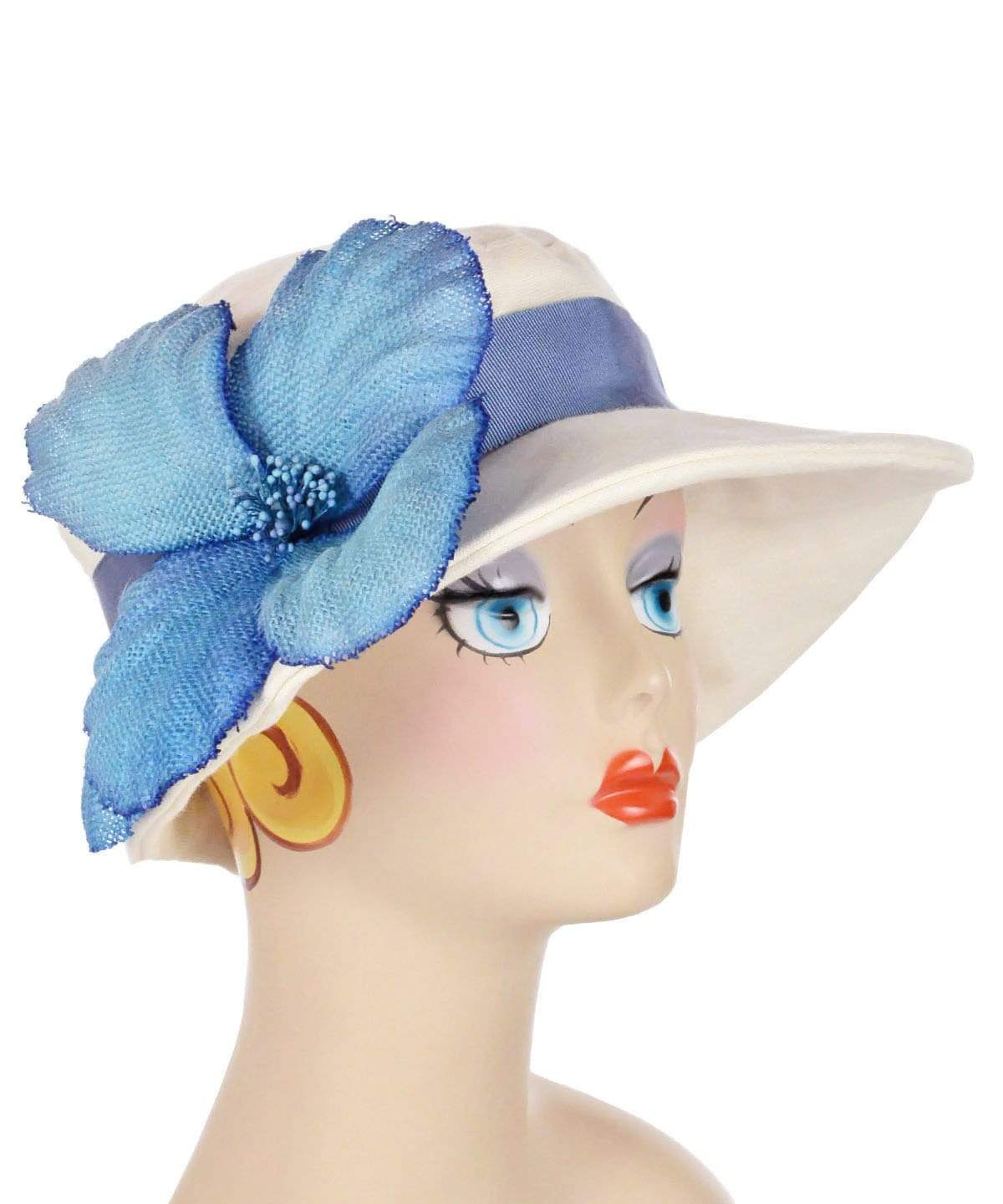 Katherine Hat Style - Linen in Seashell