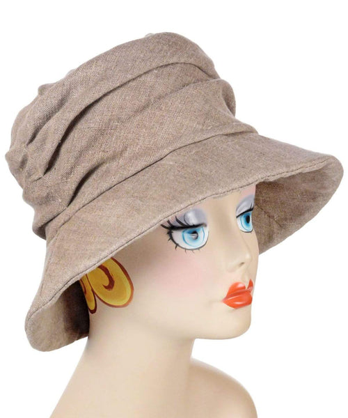 Pandemonium Millinery Krystyne Hat Style - Linen in Natural Hats
