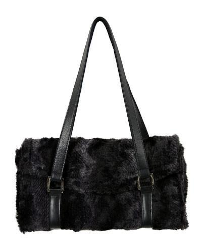 Madrid Style Handbag - Luxury Faux Fur in Python (One Left!)