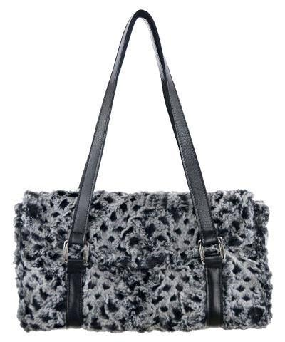 Madrid Style Handbag - Luxury Faux Fur in Snow Owl (One Left!)