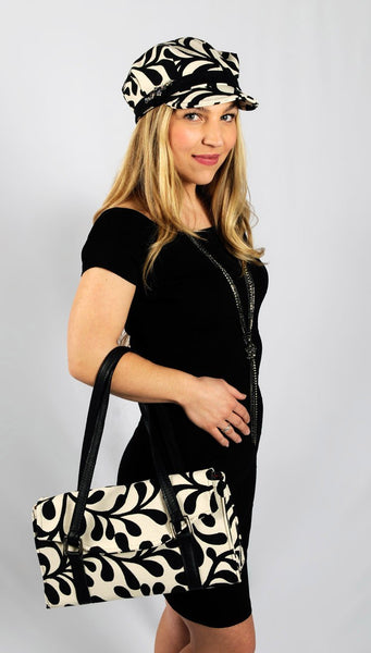 Madrid Style Handbag - Sonora Brown/Black Sonora Brown/Black / Black Handbag Pandemonium Millinery