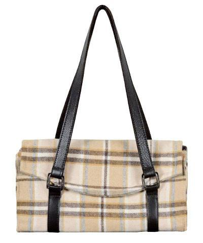 Madrid Style Handbag - Wool Plaid (Only Nightfall One Left!)