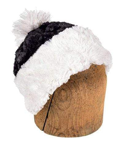 Men's Beanie Hat, Reversible - Cuddly Faux Fur in Ivory
