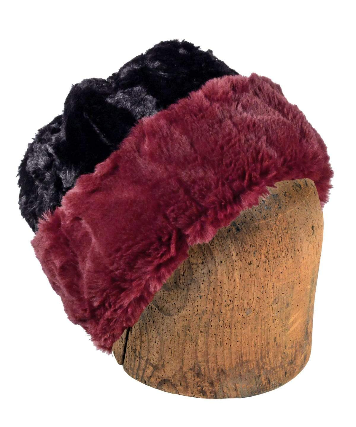 Men's Beanie Hat, Reversible - Luxury Faux Fur in Cranberry Creek (Limited Availability)
