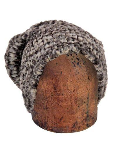 Men's Cuffed Pillbox, Reversible (Solid or Two-Tone) - Cobblestone in Brown/Cream Faux Fur Medium / Cobblestone - Solid Hats Pandemonium Millinery