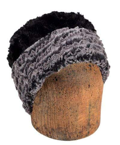 Men's Cuffed Pillbox, Reversible (Solid or Two-Tone) - Desert Sand Faux Fur