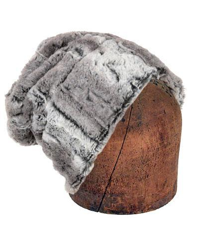 Men's Cuffed Pillbox, Reversible (Solid or Two-Tone) - Luxury Faux Fur in Alder Medium / Alder - Solid Hats Pandemonium Millinery